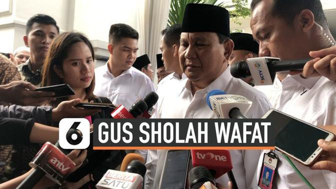 VIDEO: Gus Sholah Wafat, Prabowo Merasa Kehilangan