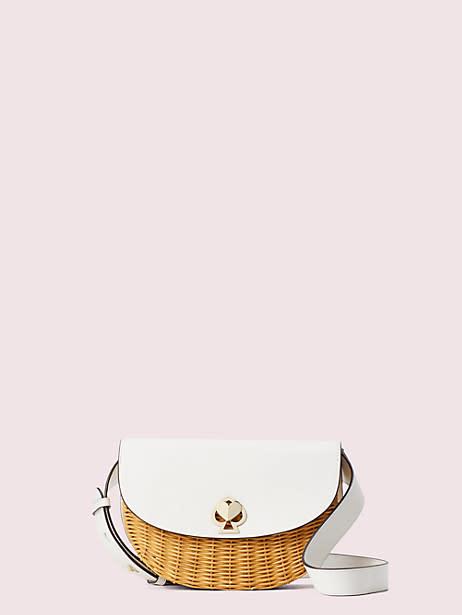 Nicola Wicker Twistlock Medium Sling Bag