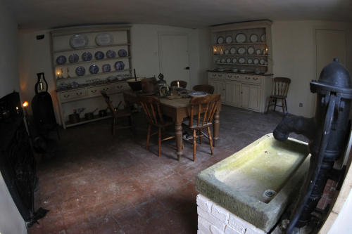 "The kitchen in Charles Dickens' home, part of the Charles Dickens Museum in London, Wednesday, Dec. 5, 2012. For years, the four-story brick row house where the author lived with his young family was a dusty and slightly neglected museum, a mecca for Dickens scholars but overlooked by most visitors to London. Now, after a 3 million pound ($4.8 million) makeover, it has been restored to bring the writer's world to life. Its director says it aims to look ""as if Dickens had just stepped out."" (AP Photo/Sang Tan)"