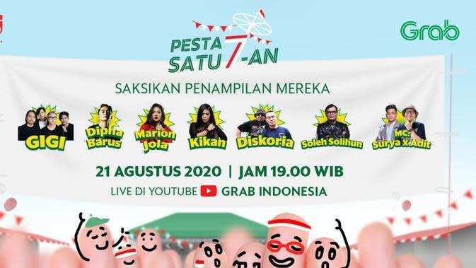 Panjat pinang virtual Grab Indonesia dalam rangka memeriahkan HUT RI ke-75 (Foto: Grab Indonesia)