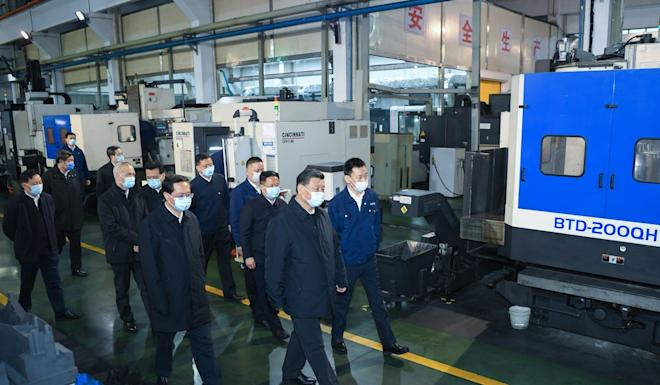 As part of his visit to Ningbo, Chinese President Xi Jinping visited a privately-owned car parts manufacturer in an industrial estate next to the port. Photo: Xinhua
