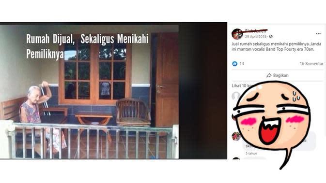 6 Status Facebook Jual Rumah Ini Kocak Bikin Ketawa (sumber: Facebook Risk Asrien)