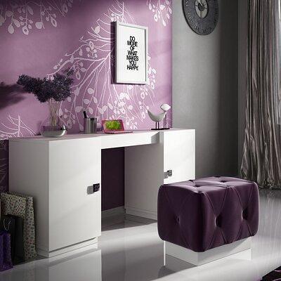 Everly Quinn Kirkwood Bedroom Makeup Vanity Set Wood In White Glossy Size 20 L X 55 W X 31 5 H Wayfair 7332333d5ca94a72b0da47f5d265358b Yahoo Shopping