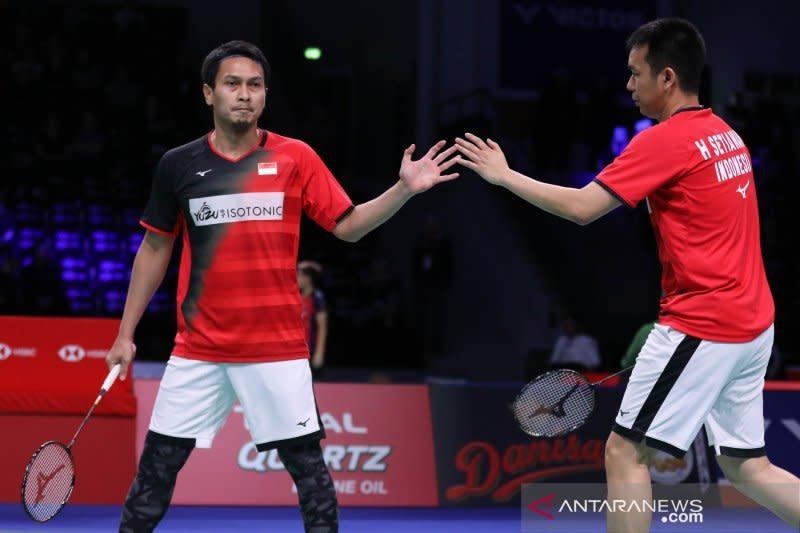 Ahsan/Hendra menangkan pertarungan sengit melawan Ou/Zhang