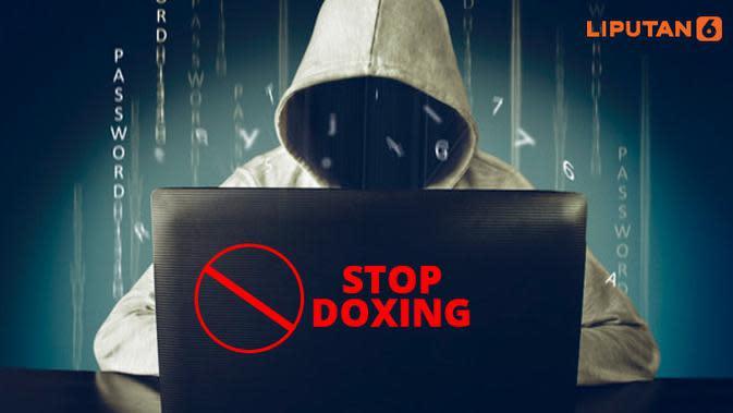 Ilustrasi Stop Doxing (Liputan6.com/Triyasni)