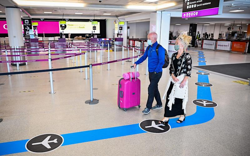 A deserted Edinburgh Airport on Tuesday - Jeff J Mitchel/Getty