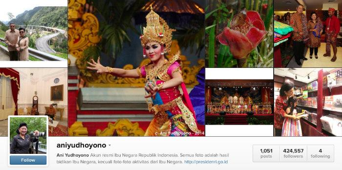 ani yudhoyono instagram