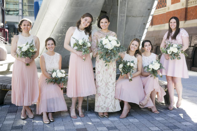 Madison poses with the bridesmaids.  (Heidi Roland Photography)