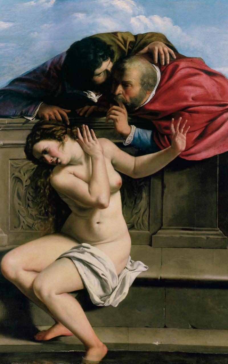 Susannah and the Elders, oil on canvas - Kunstsammlungen Graf von Schanborn, Pommersfelden