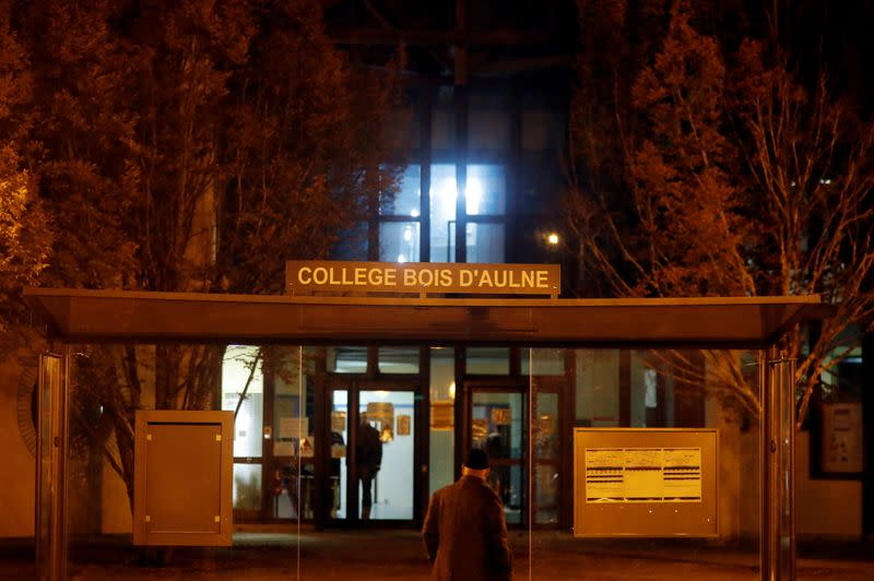 For a teacher in France, a civics class was followed by a gruesome death