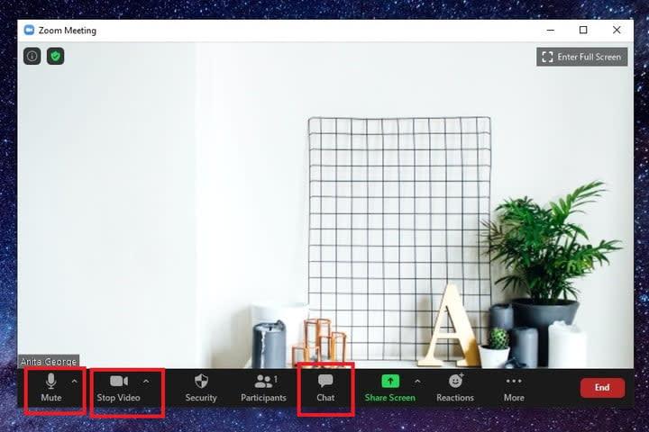 Zoom buttons screenshot