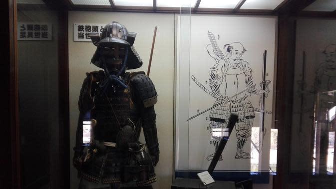 Salah satu koleksi pakaian Samurai untuk tingkat perwira tinggi atau jenderal (Liputan6.com/Andry Haryanto)