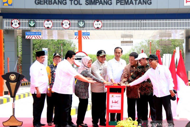Presiden sebut Lampung-Palembang segera tersambung dengan jalan tol
