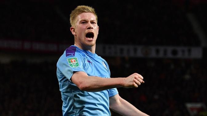 Kevin De Bruyne (Manchester City) - Finalis UEFA Men's Player of the Year. (AFP/Paul Ellis)