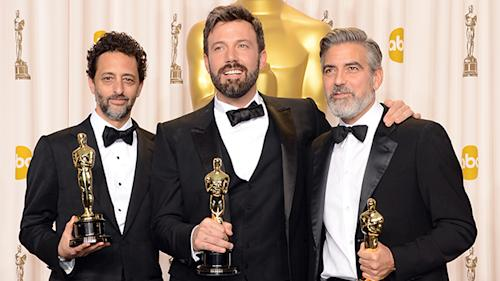 Oscar Bromance alert! Ben Affleck and George Clooney goof it up backstage