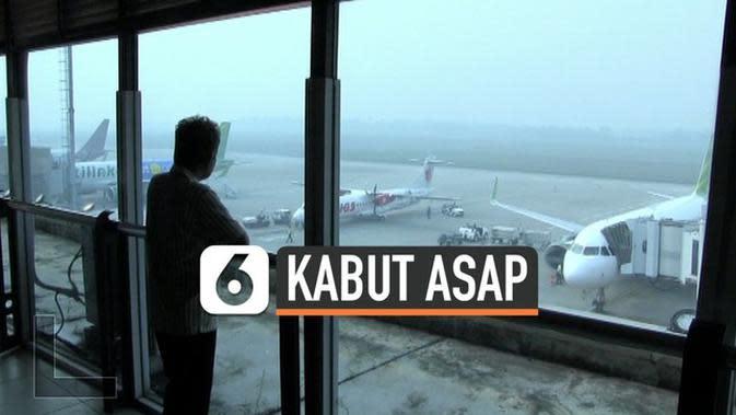VIDEO: Bandara Palembang Kembali Diselimuti Kabut Asap
