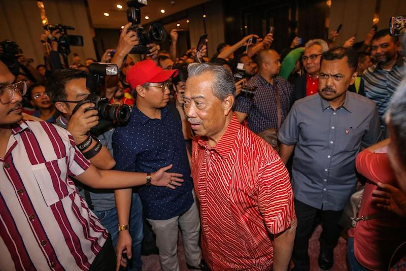 All Barisan Nasional component parties have nominated Tan Sri Muhyiddin Yassin as the prime minister candidate, making the total number of MPs behind him 96. — Picture by Hari Anggara