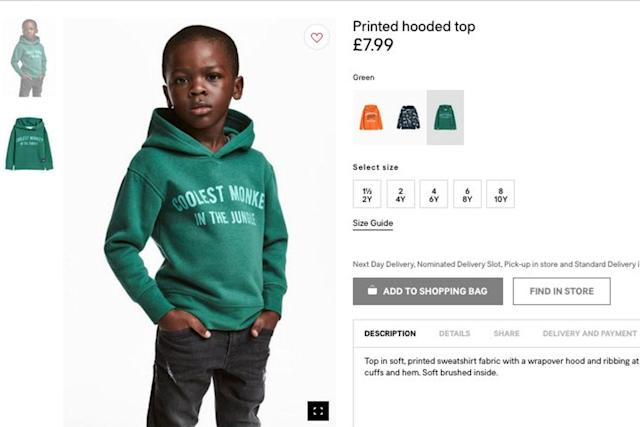 H&M apologised for the controversial advert