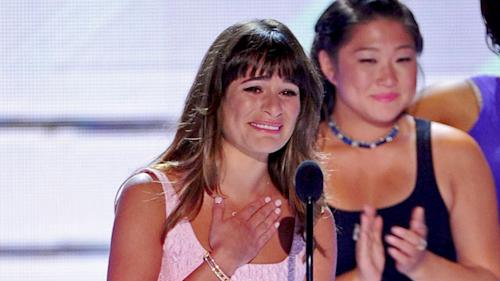 Lea Michele Makes Emotional First Appearance