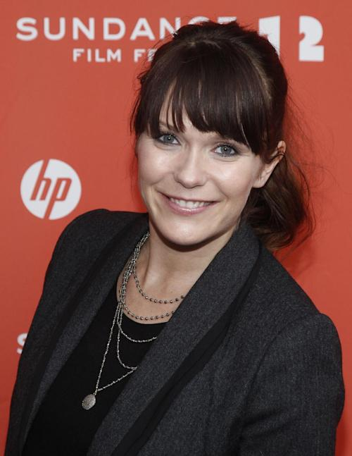 "FILE - In this Jan. 21, 2012 photo, actress and director Katie Aselton poses at the premiere of ""Black Rock"" during the 2012 Sundance Film Festival in Park City, Utah. (AP Photo/Danny Moloshok, File)"
