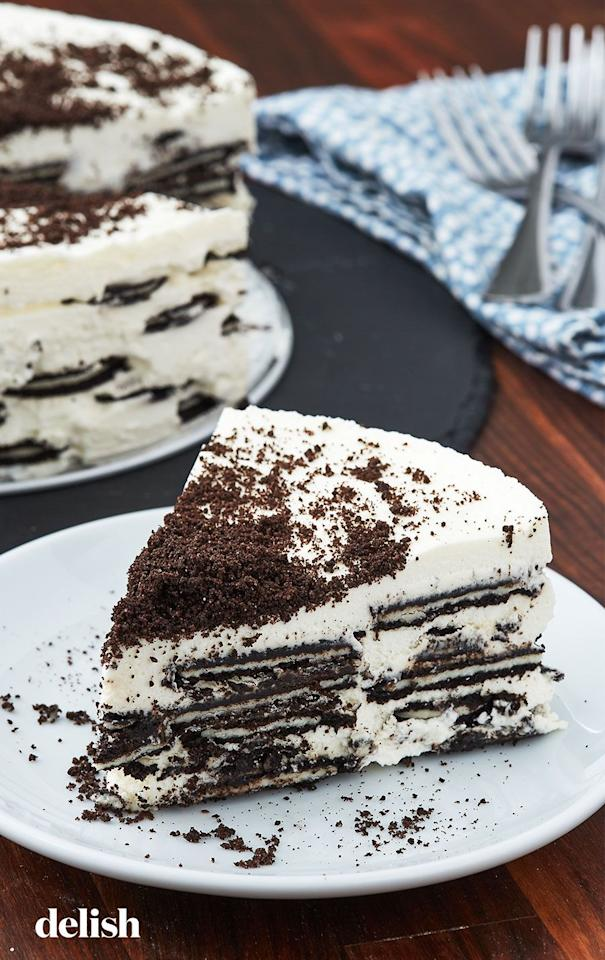 """<p>Few desserts are as easy as an icebox cake. If you can whip cream, you're basically halfway there! </p><p>Get the recipe from <a href=""""https://www.delish.com/cooking/recipe-ideas/a27469997/icebox-cake-recipe/"""" target=""""_blank"""">Delish</a>.</p>"""