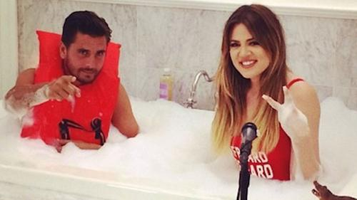 This Photo Of Khloe Kardashian And Scott Disick In A Bath Tub Raises So Many Questions