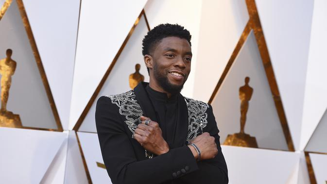Chadwick Boseman. (AP Photo/Jordan Strauss)