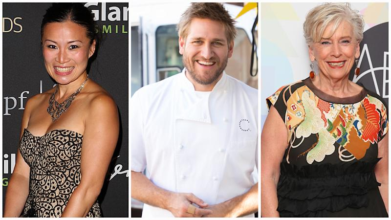 Poh Ling Yeow pictured left alongside Curtis Stone and Maggie Beer, right