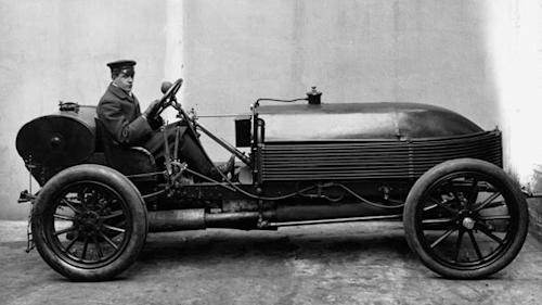 January 31: The first 100-mph car ran on this date in 1905