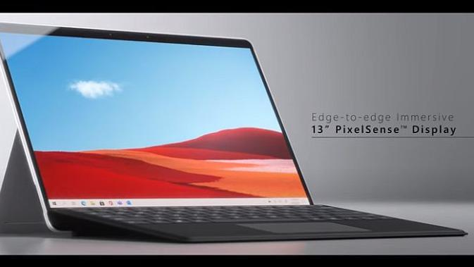Microsoft Surface Pro X (screenshot via YouTube Microsoft Surface)