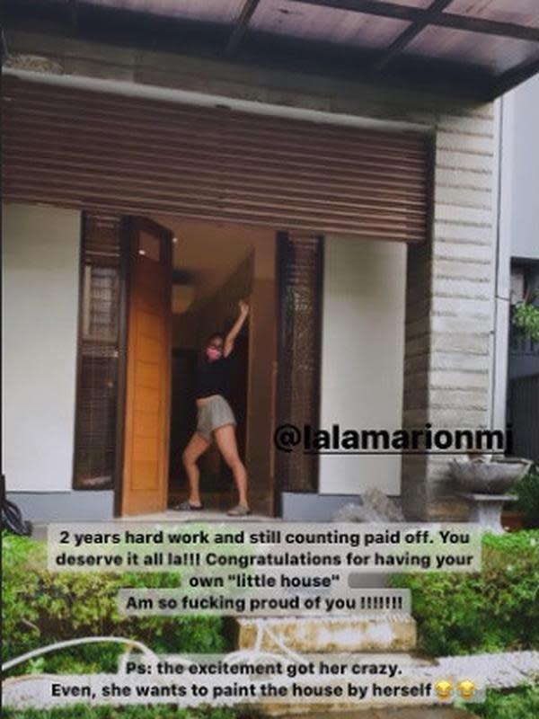 Rumah baru Marion Jola (Sumber: Instagram/shintaherlina_)