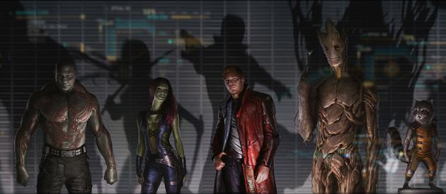 Kevin Feige introduces cast and clip of Guardians of the Galaxy only two weeks into filming