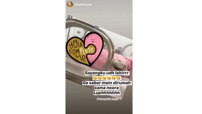6 Potret Terbaru Tasya Farasya Usai Melahirkan, Wajah Bayi Bikin Penasaran (sumber: Instagram.com/tasyafarasya)