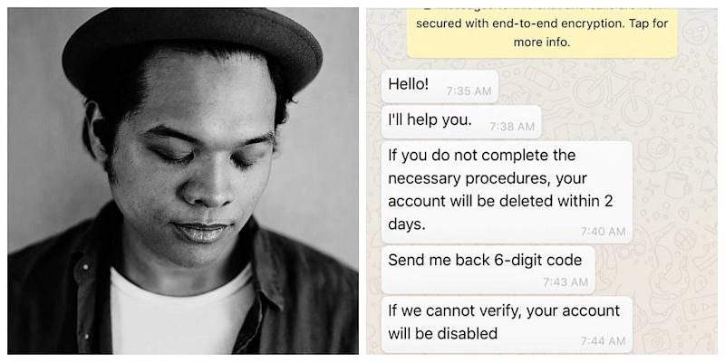 Malaysian singer Aizat Amdan takes to Twitter to warn the public about being hacked. — Picture courtesy of Instagram/ Aizat Amdan