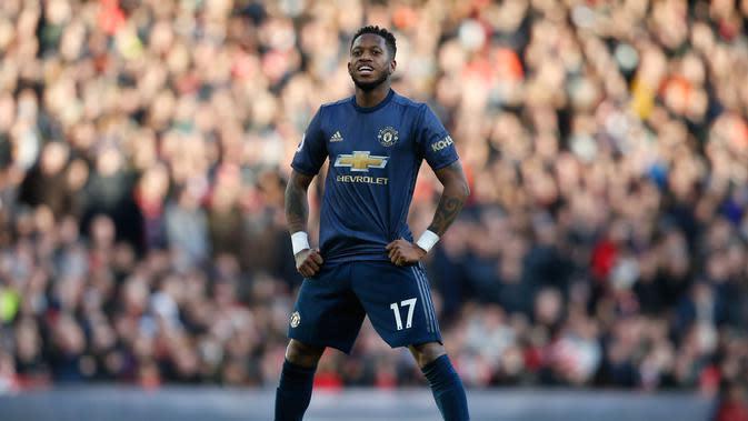 3. Fred - Penampilan apiknya bersama Shakhtar Donetsk menarik hati Jose Mourinho. Fred merapat ke Old Trafford setelah ditebus dengan harga 59 juta euro. (AFP/Ian Kington)