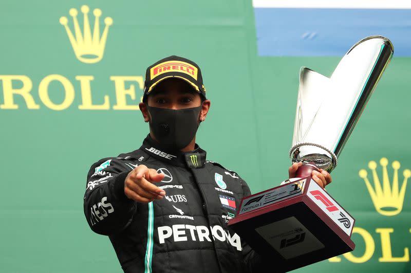 Hamilton sweeps to dominant Belgian win