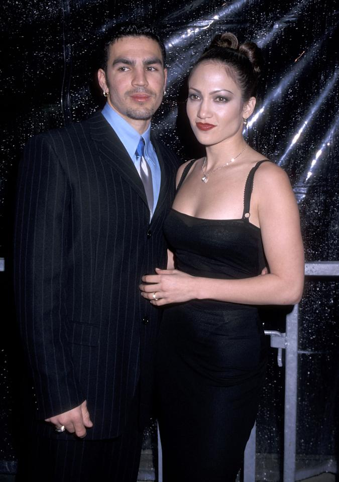 <p>In February 1997, a then 27-year-old Jennifer Lopez tied the knot with Cuban waiter Ojani Noa. While the marriage lasted just 11 months, there's no denying the engagement ring was pretty impressive. <br />Source: Getty </p>