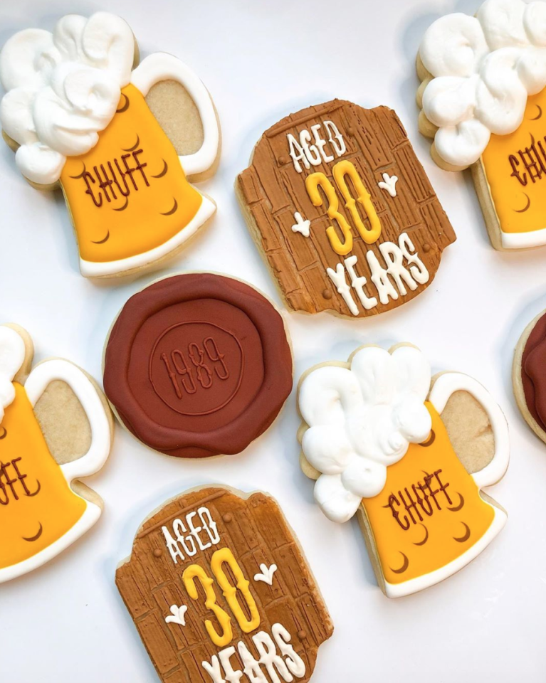 "<p>These bourbon- and beer-inspired cookies are the perfect treat to accompany a boozy brunch or barbecue. Pair them with a glass of the real thing to help take them to the next level!</p><p><strong>See more at </strong><a href=""https://www.instagram.com/p/B4-e-FblEwn/"" target=""_blank""><strong>Sprinkled Sweet Cookies</strong></a><strong>.</strong></p><p><a class=""body-btn-link"" href=""https://www.amazon.com/FASAKA-3-Piece-Round-Cookie-Cutters/dp/B07KW3BDP1/?tag=syn-yahoo-20&ascsubtag=%5Bartid%7C10050.g.31122098%5Bsrc%7Cyahoo-us"" target=""_blank""><strong>SHOP CIRCLE COOKIE CUTTERS</strong></a></p>"
