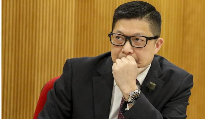 Chris Tang was also grilled about a knife attack in Tsuen Wan last year. Photo: Nora Tam