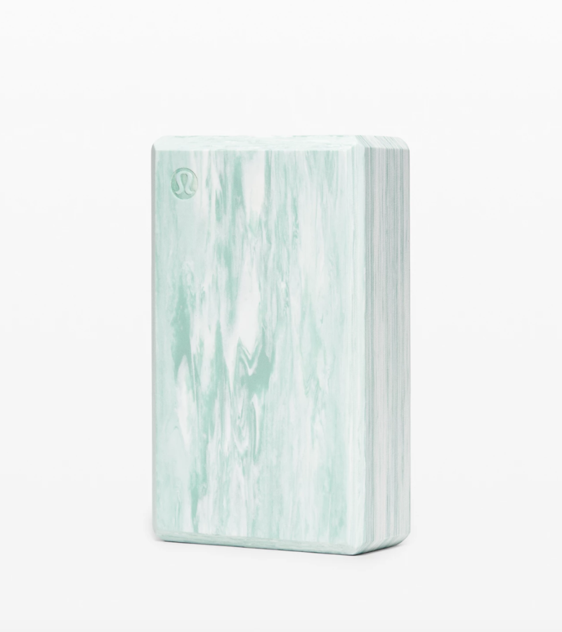 Lift & Lengthen Yoga Block. Image via Lululemon.