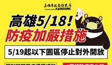 「疫」起守護台灣及高雄 2園及1館自5月19日起休園