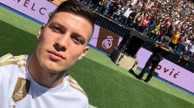 Striker Real Madrid, Luka Jovic.