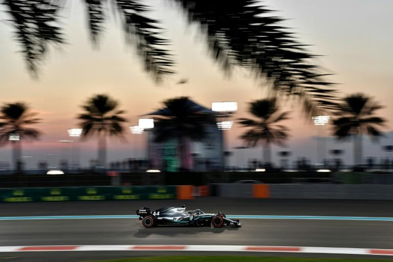 Hamilton on his way to second in Friday's practice behind his Mercedes teammate Bottas