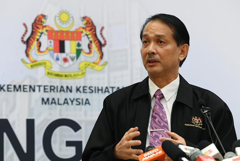 Health Director-General Datuk Dr Noor Hisham Abdullah said the Bukit Tiram Covid-19 cluster in Johor today recorded its first case outside the state after one new infection connected to the cluster was recorded in Selangor. — Bernama pic