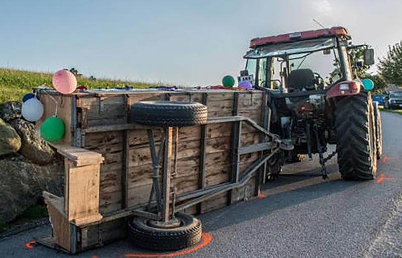 Austrian bride Jasmin Schwarnthorer died in farm tractor accident during hen's party.