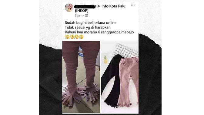 6 Momen Apes Beli Celana Online Ini Tak Sesuai Ekspektasi (sumber: Instagram.com/dagelan)