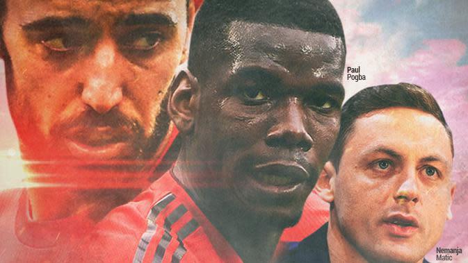 Manchester United - Bruno Fernandes, Paul Pogba, Nemanja Matic (Bola.com/Adreanus Titus)