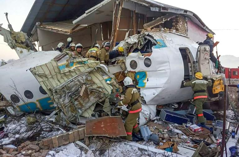 The plane lost altitude and crashed into a building on the outskirts of Almaty