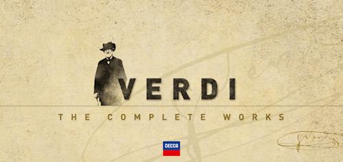 """This box set cover image released by Decca shows """"Verdi: The Complete Works."""" From the ever-popular """"Aida"""" to the obscure """"Alzira,"""" all 28 of Giuseppe Verdi's operas have been repackaged in a boxed set to commemorate the great Italian composer's 200th birthday. (AP Photo/Decca)"""