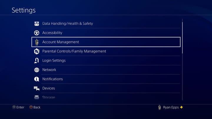 PS4 Gamesharing Account Management